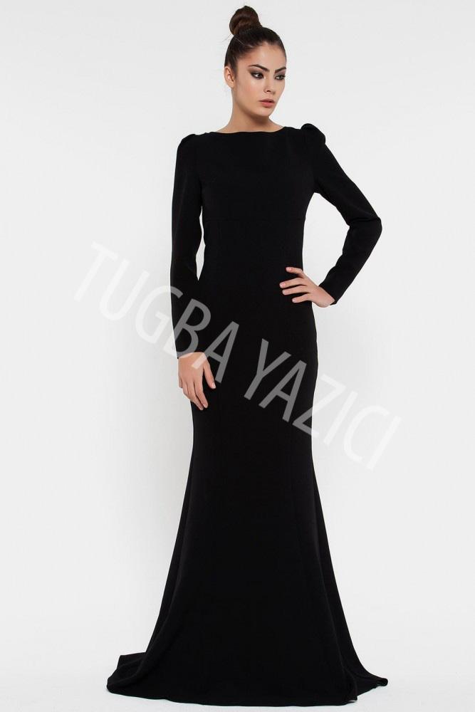 Red Corped Siyah Elbise