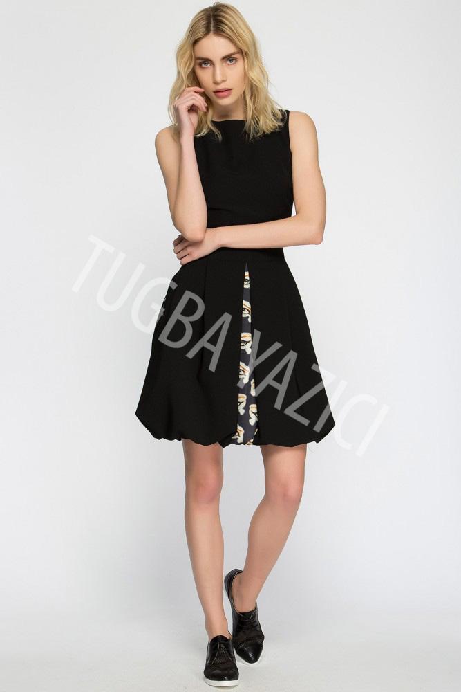 Siyah Balon Elbise