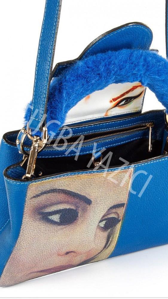 Blue Portrait Bag