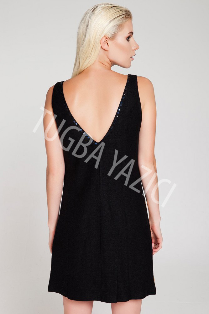 Kokteyl Siyah Elbise